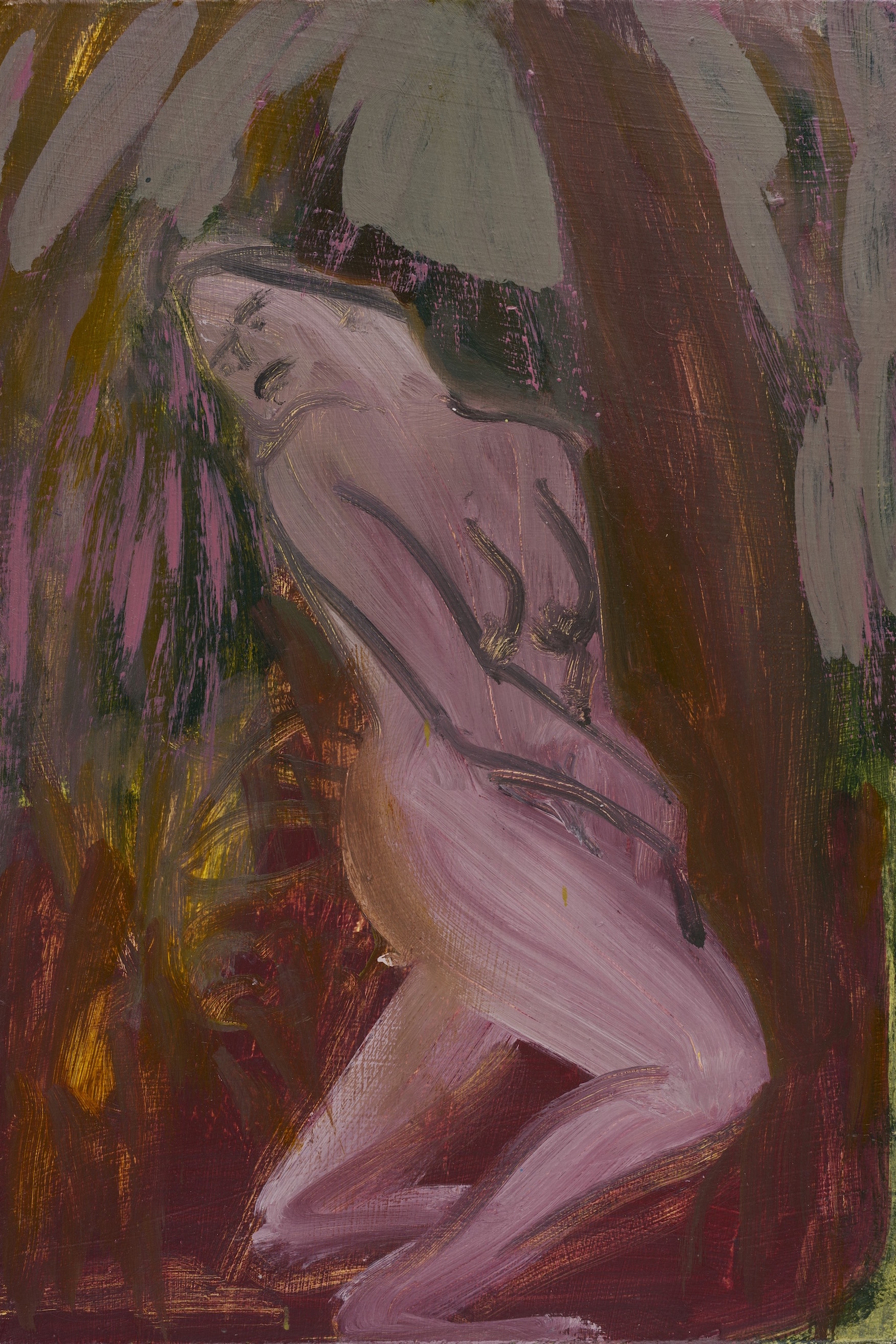 Sunday Service   Oil on board  23 x 15 cm