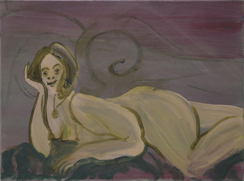 Odalisque   Oil on canvas  30 x 40 cm