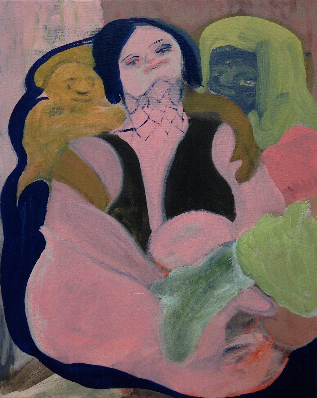 Clutch   Oil on canvas  50 x 40 cm