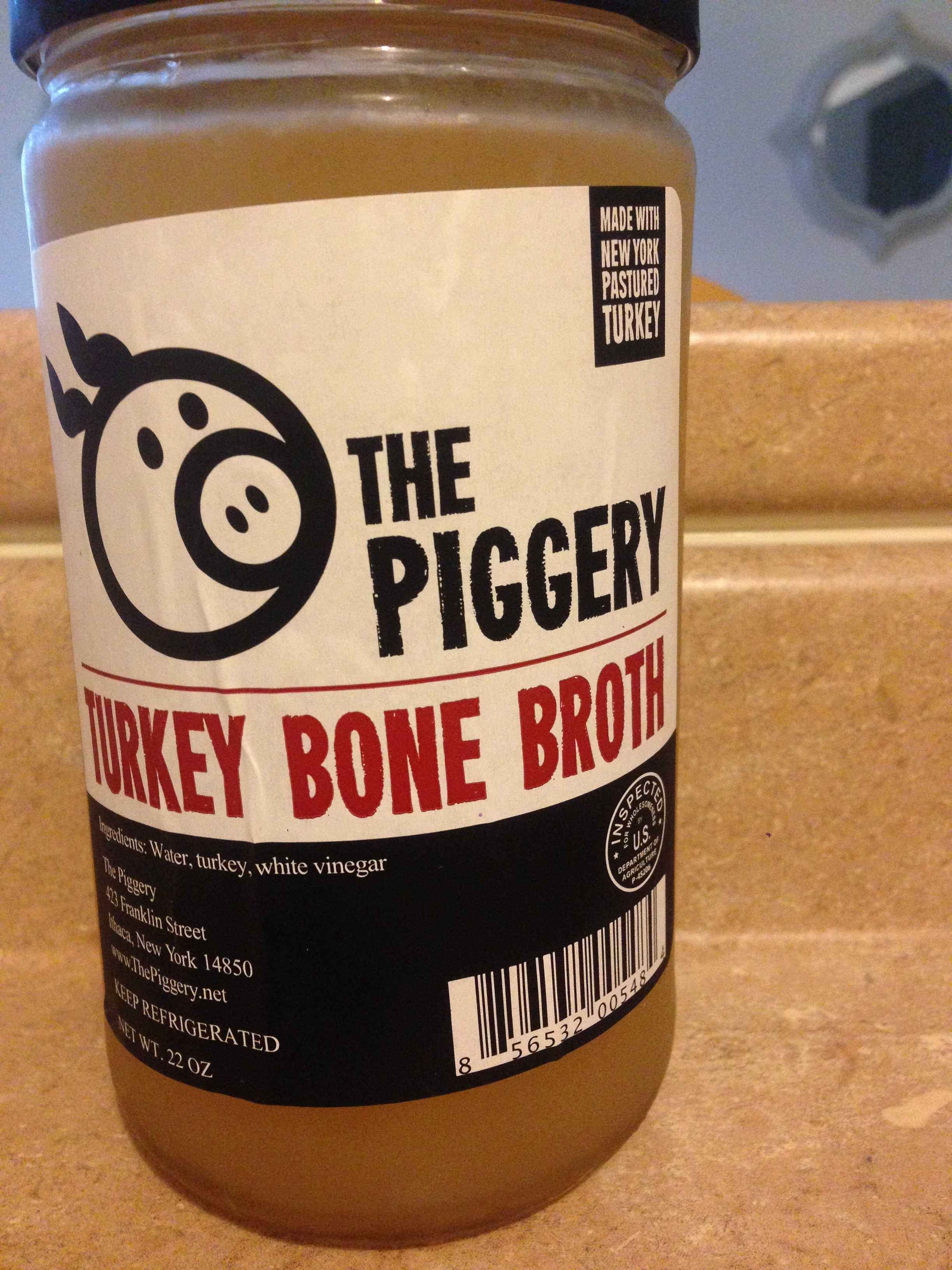 If you're lucky like me, you can also buy homemade bone broth from your local meat's butcher shop.  Amazing.