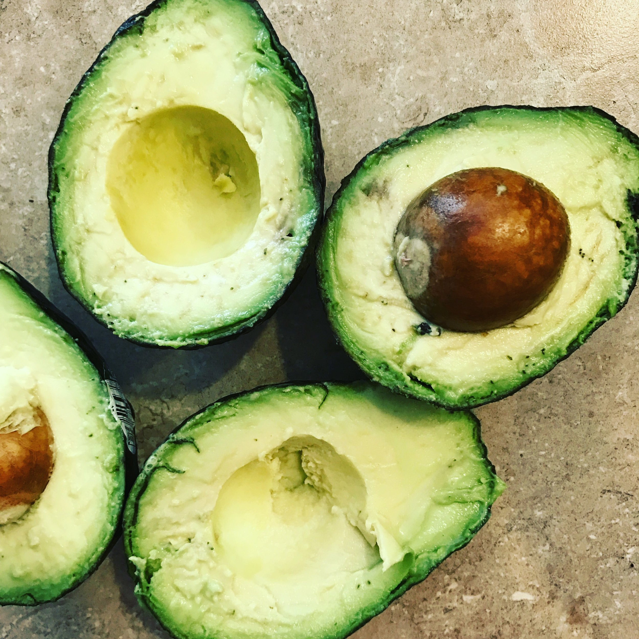 Avocados for gluten free dairy free chocolate avocado mousse with collagen by holistic health coach and wellness consultant and nutrition expert and stress reduction expert Andrea Rennie of GROW, Grow Happy Grow Healthy