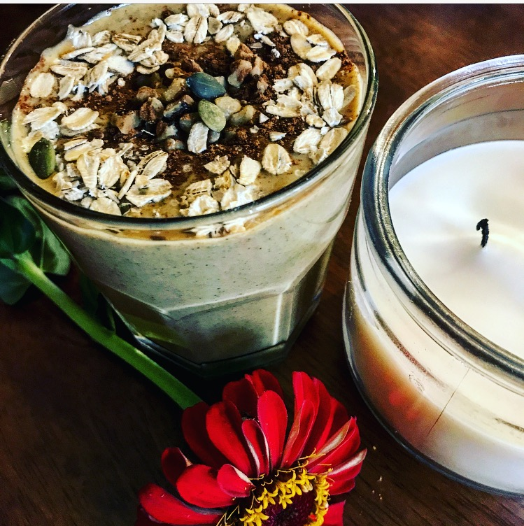 Don't you always have a candle and single flower flanking your smoothie? ;)