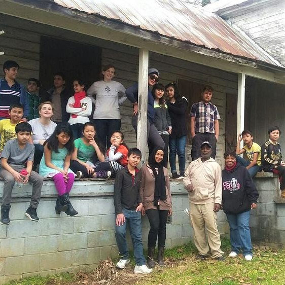 School Group Touring the Lyon House on a Field Trip