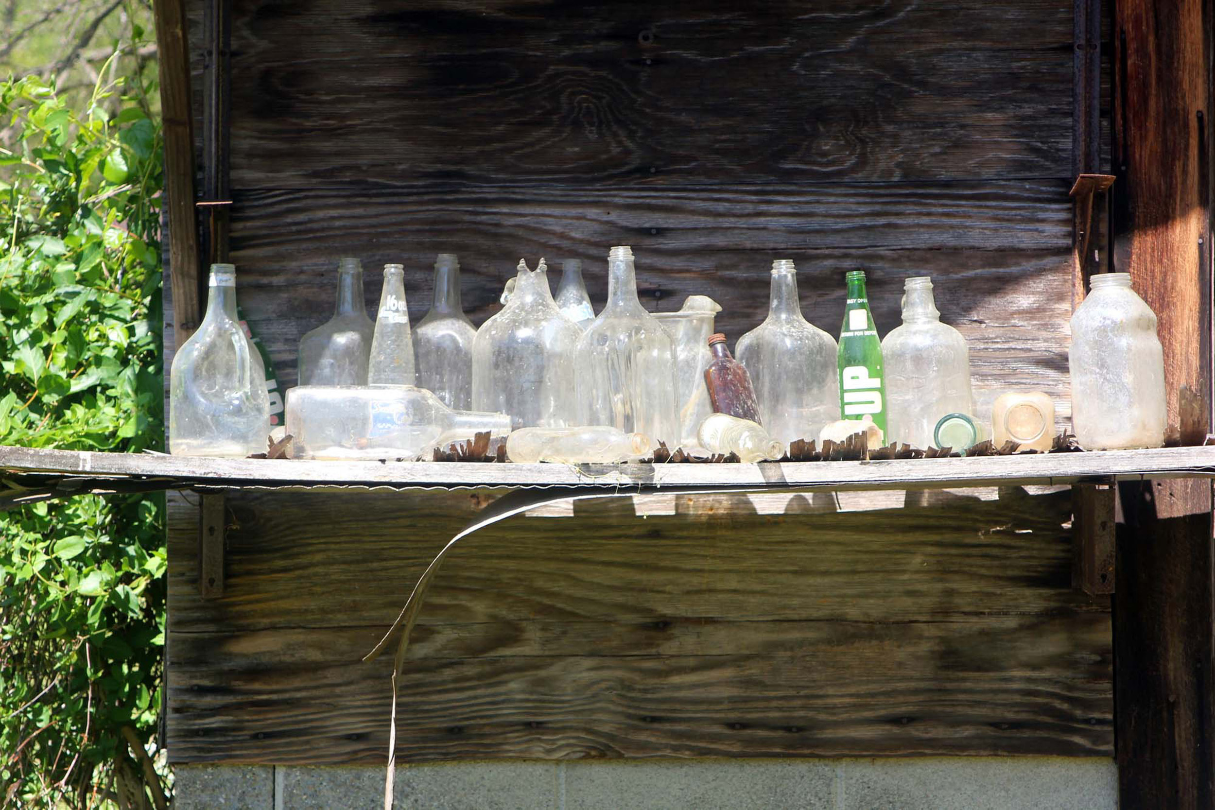 Bottle Collection in the Flat Rock Barn