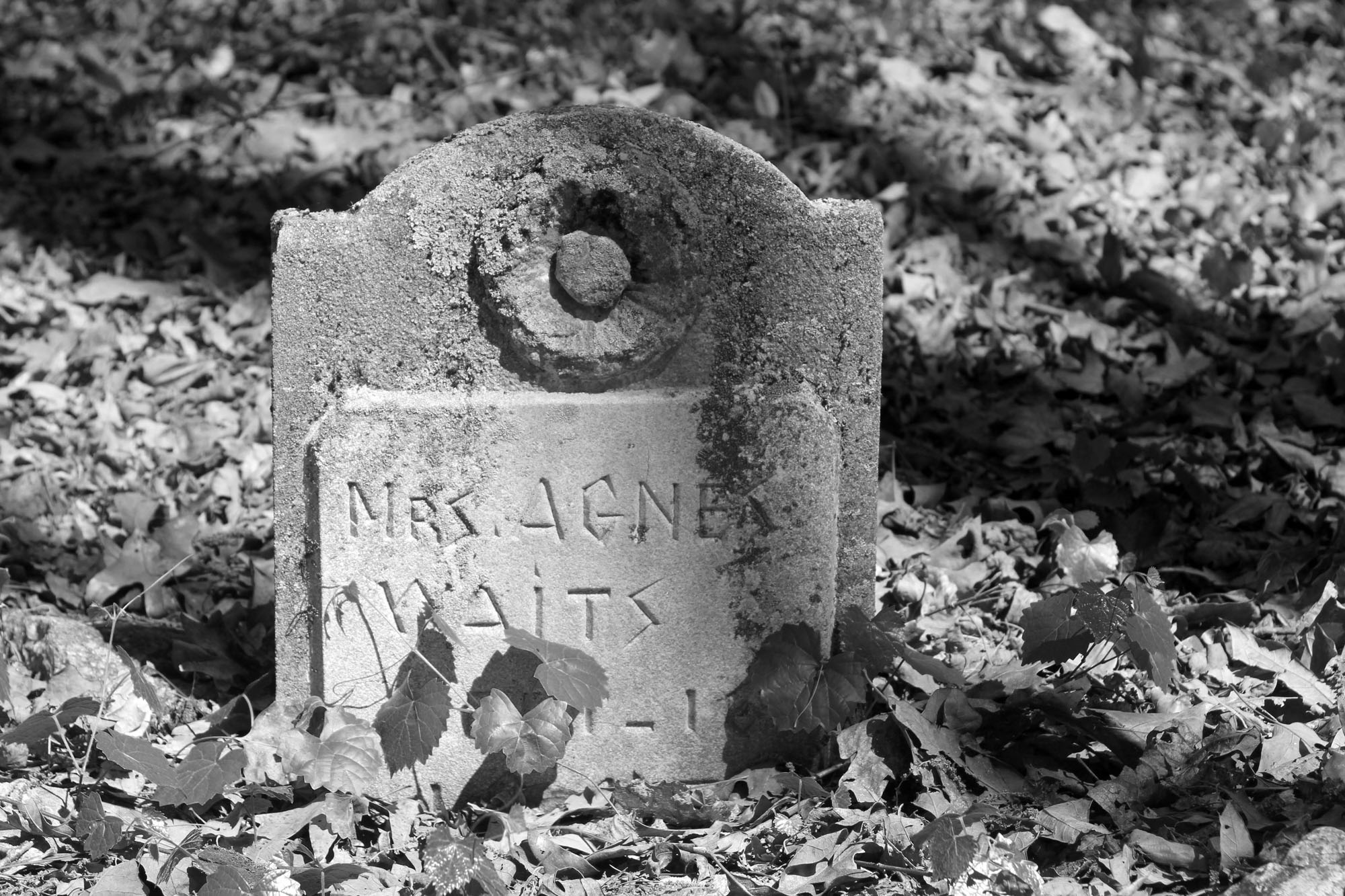 Agnes Waits Grave in the Cemetery