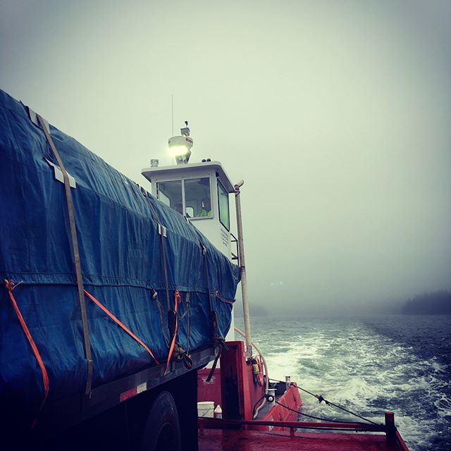 Heading out to the cranberry Isles this morning for a timber frame raising. The commute got a bit sketchy😳