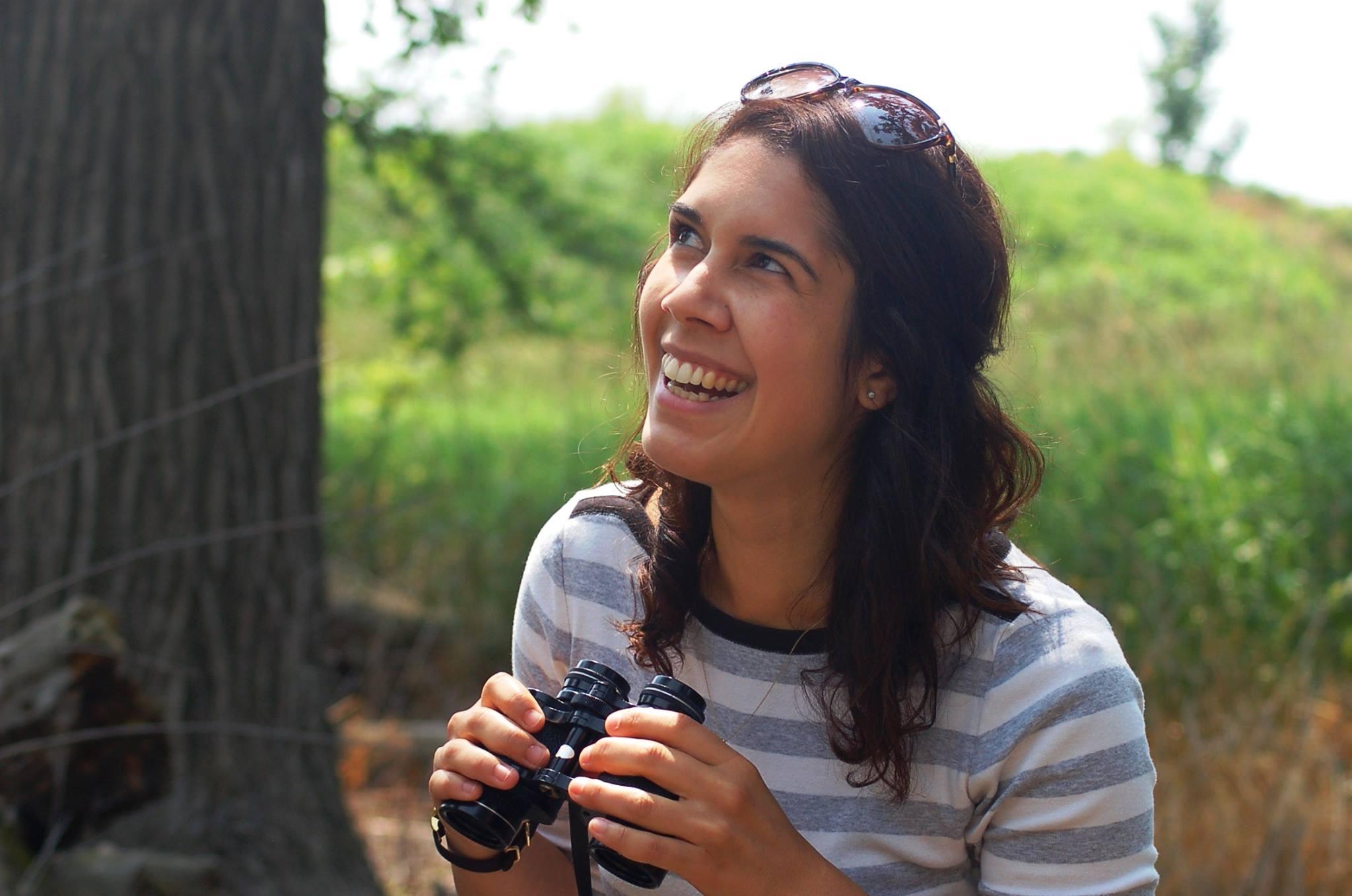 Birding at Cherokee Marsh.  Photo by Emily Meier