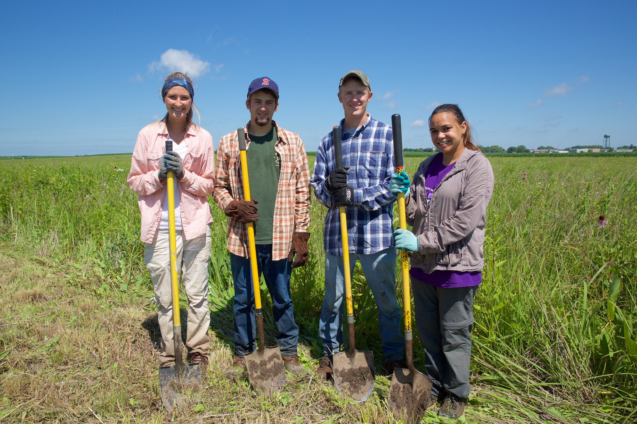 Local students can get a jump-start on a conservation career with an internship in restoration ecology with Madison Audubon Society.  Photo by Arlene Koziol