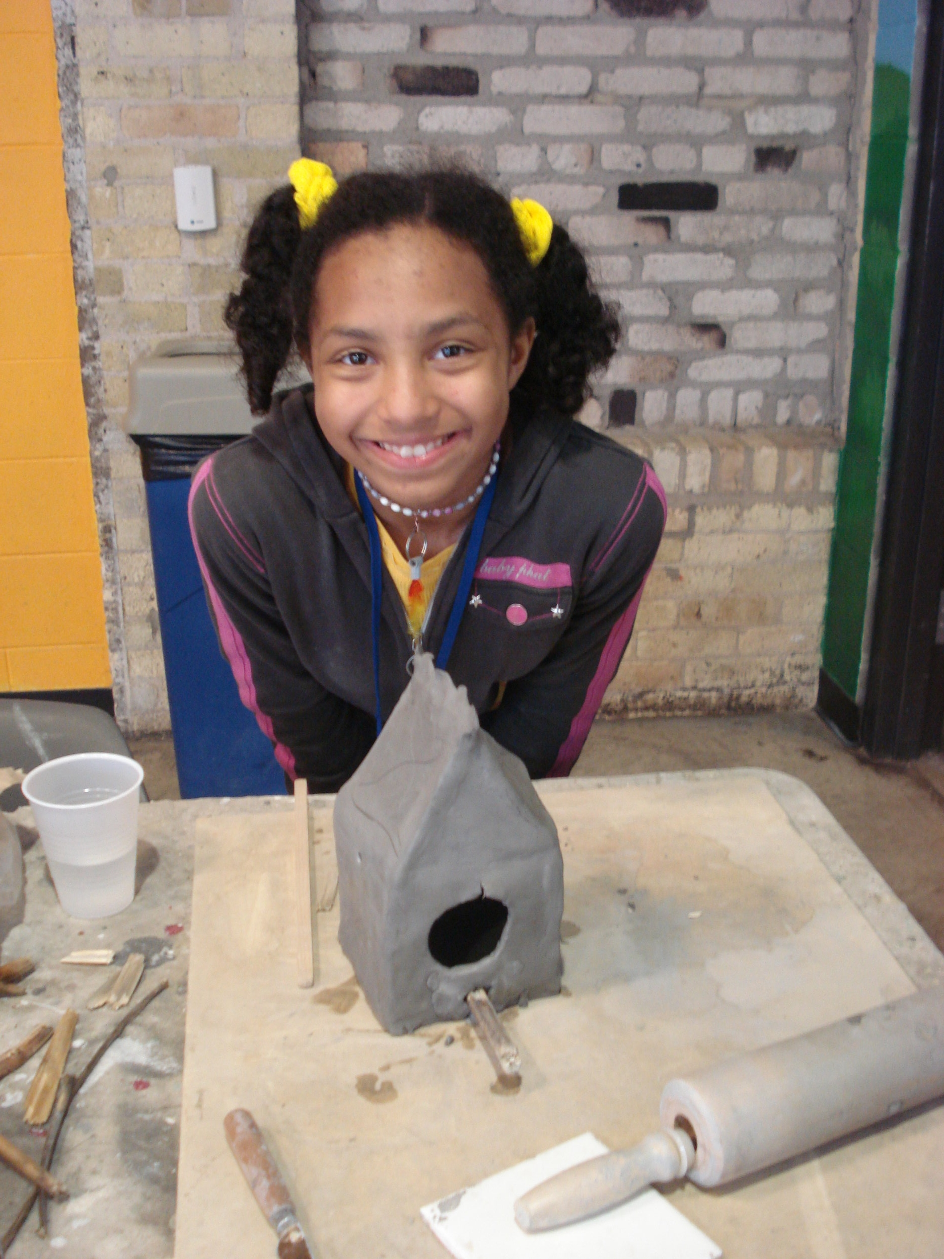Students at Goodman Community Center's after school programs learned about birds and art through a partnership with Madison Audubon Society.