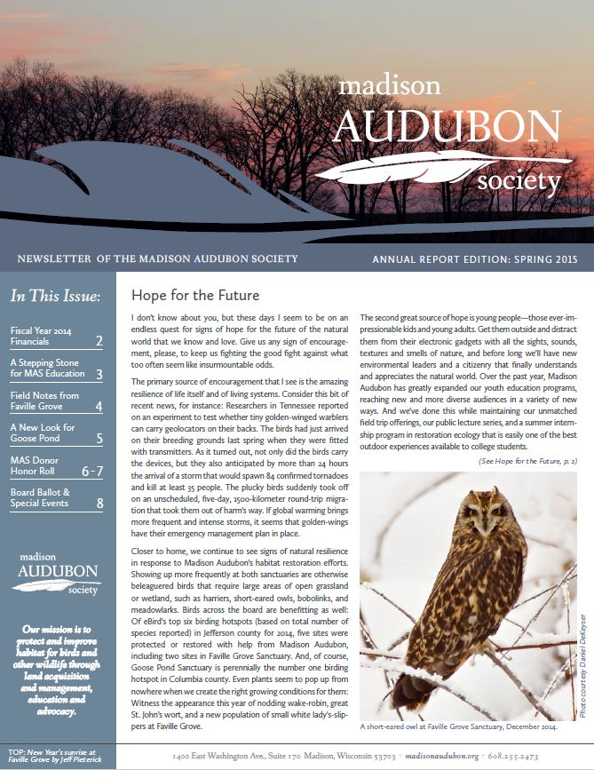Spring 2015 (Annual Report Edition)