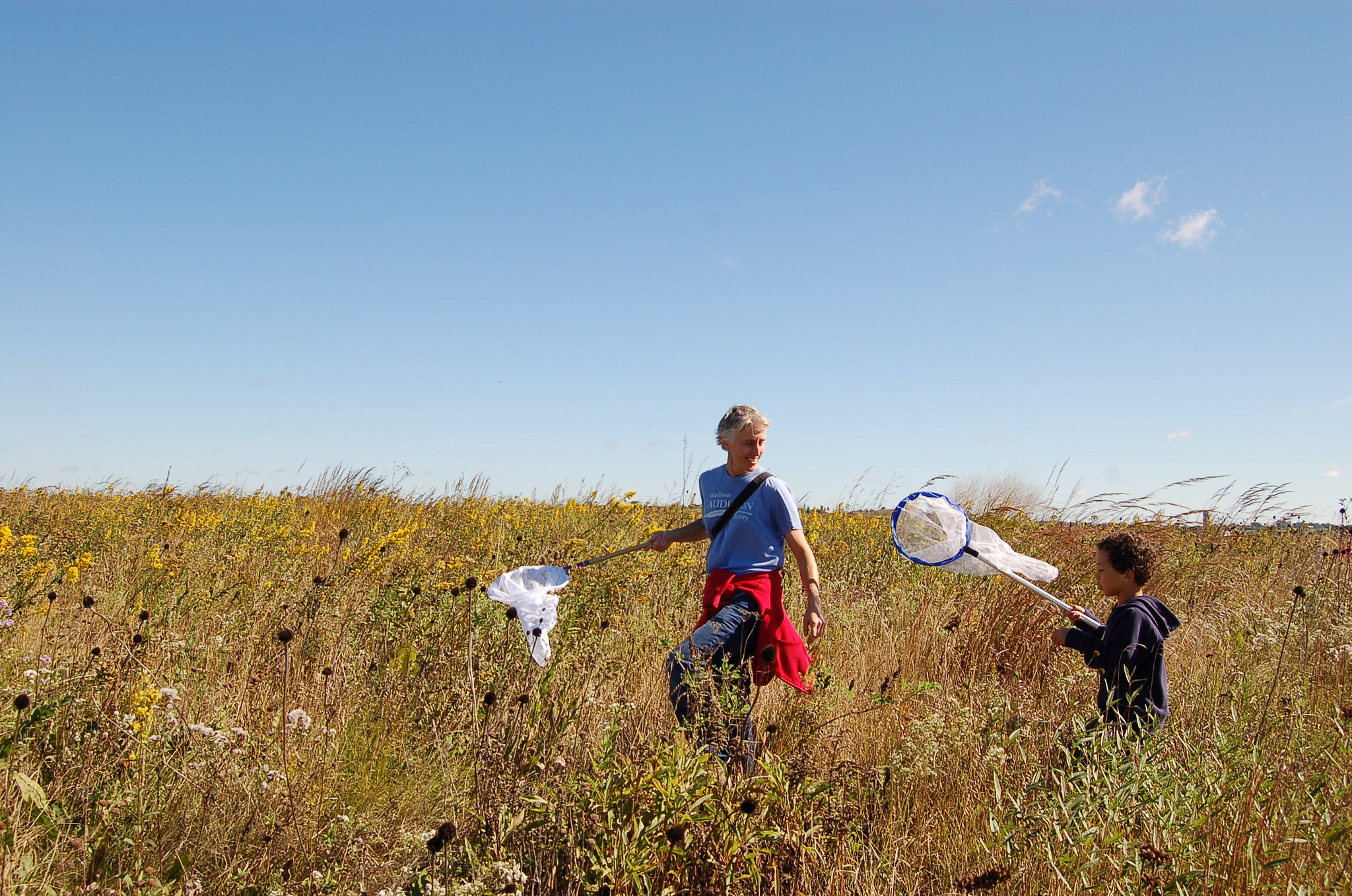 Monarch tagging is a family-friendly citizen science event! Photo by Emily Meier.