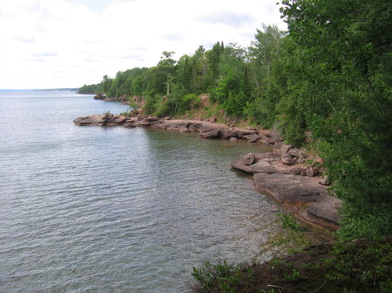 A view of Lake Superior from Madeline Island, Wisconsin