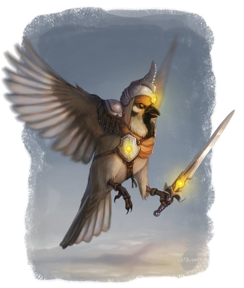 This Warrior Sparrow is fierce and ferocious when it needs to be!    Artwork by NATAnatfan
