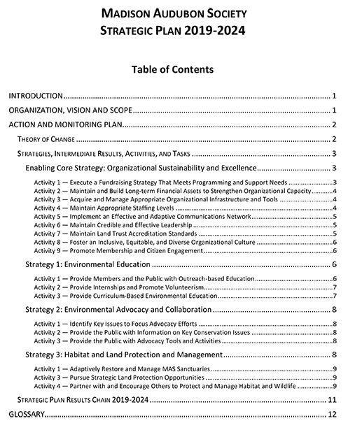 Click for the no-frills full organizational plan
