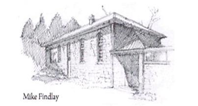 Eglingham Village Hall Sketch by Mike Findlay