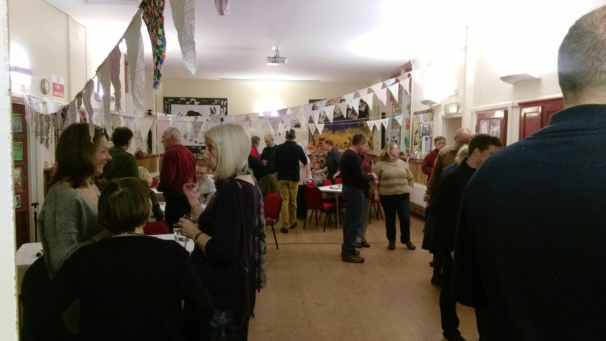 A busy community event in South Charlton Village Hall