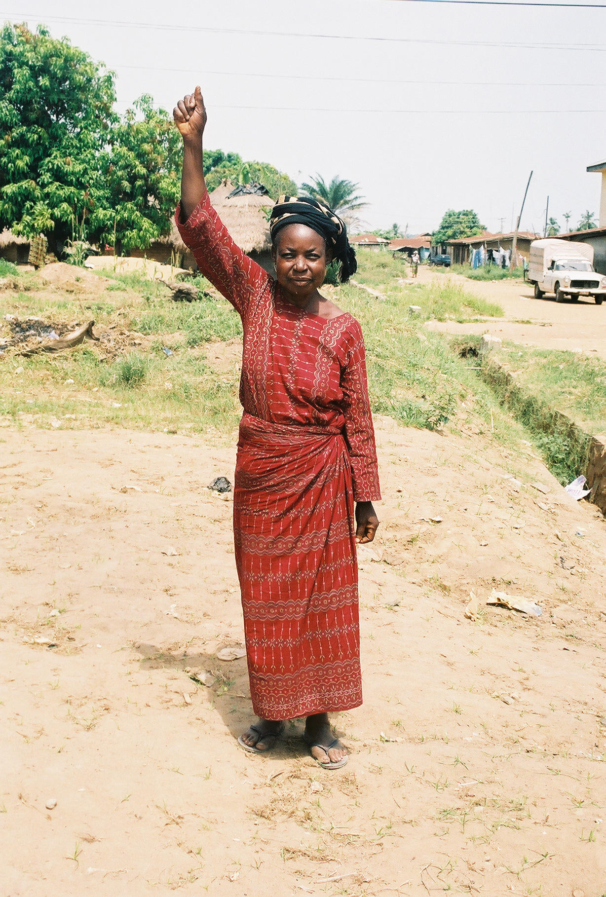 This lady in Nigeria, West Africa lived in a village outside of town.  We went to her village with the message of Jesus Christ.  She believed and was healed of a paralyzed arm!