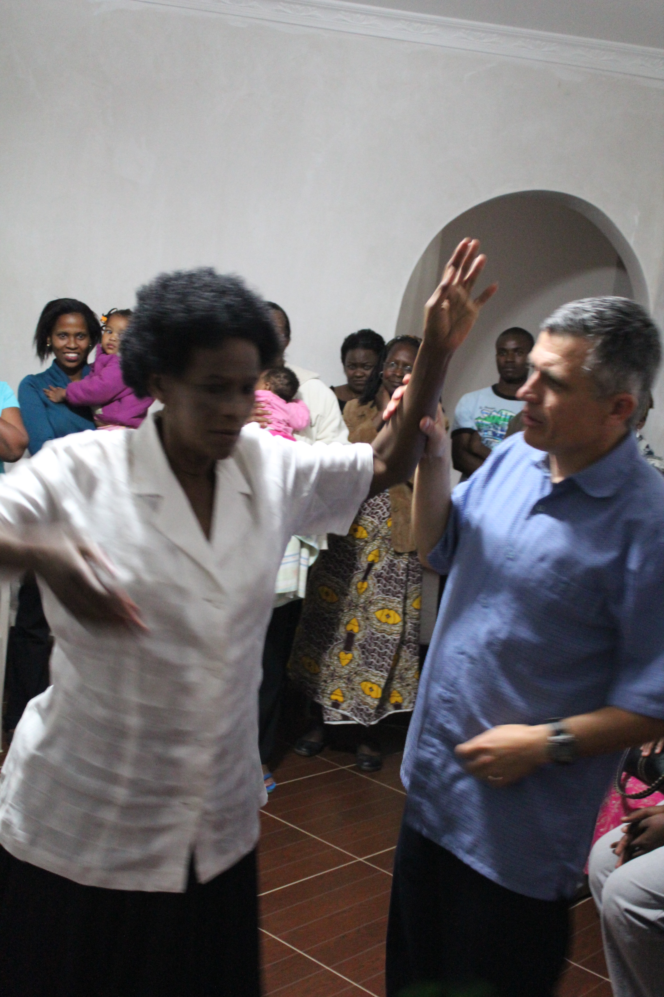 This lady was paralyzed from a stroke and was healed in Zambia.