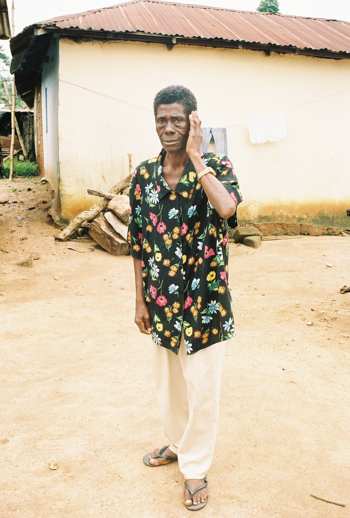 This man was healed of deafness in a crusade in Africa.