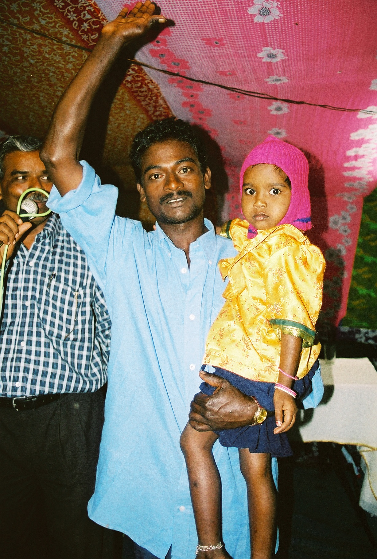 This man had many years of back pain but was healed in a crusade in India.