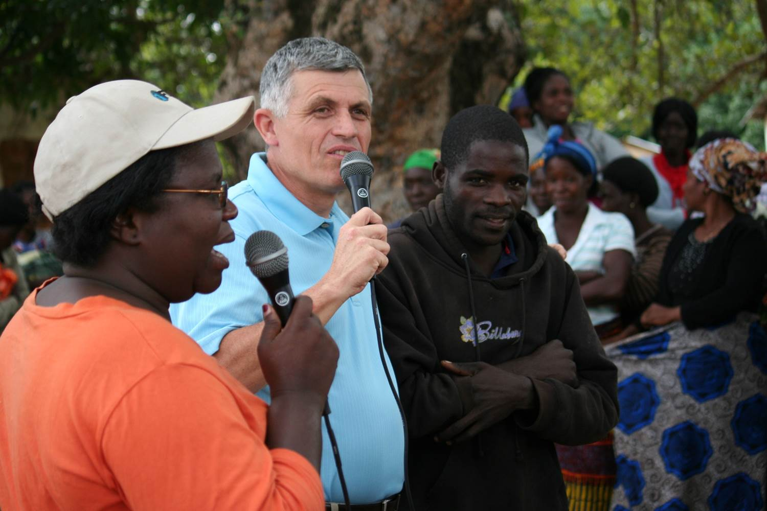 This man was deaf but received healing from Jesus in a crusade in Zambia.