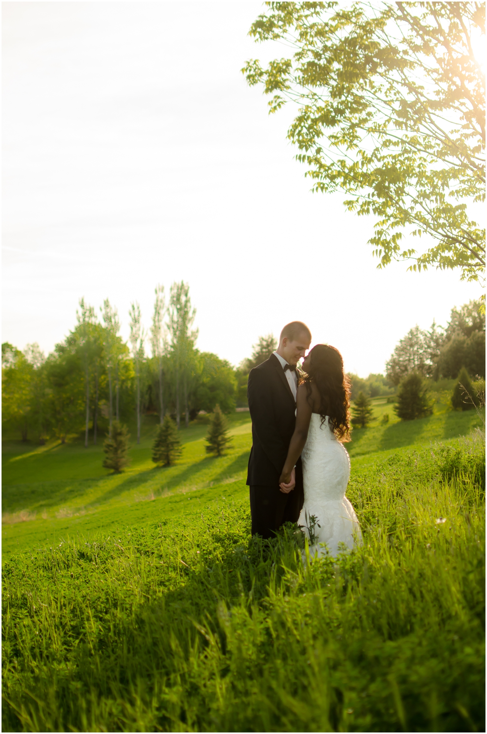 bride and groom before their MN wedding