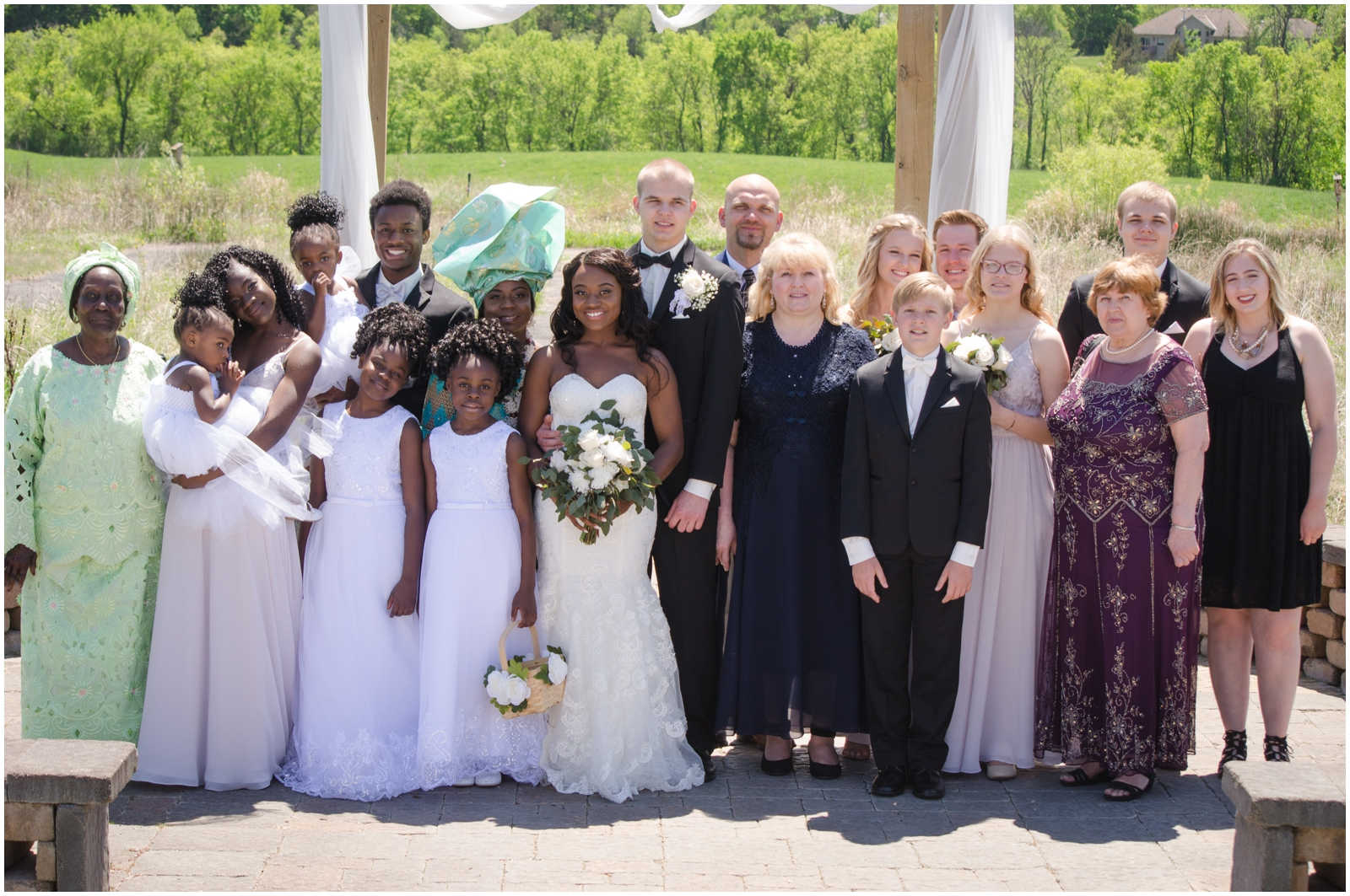 bride and groom's family