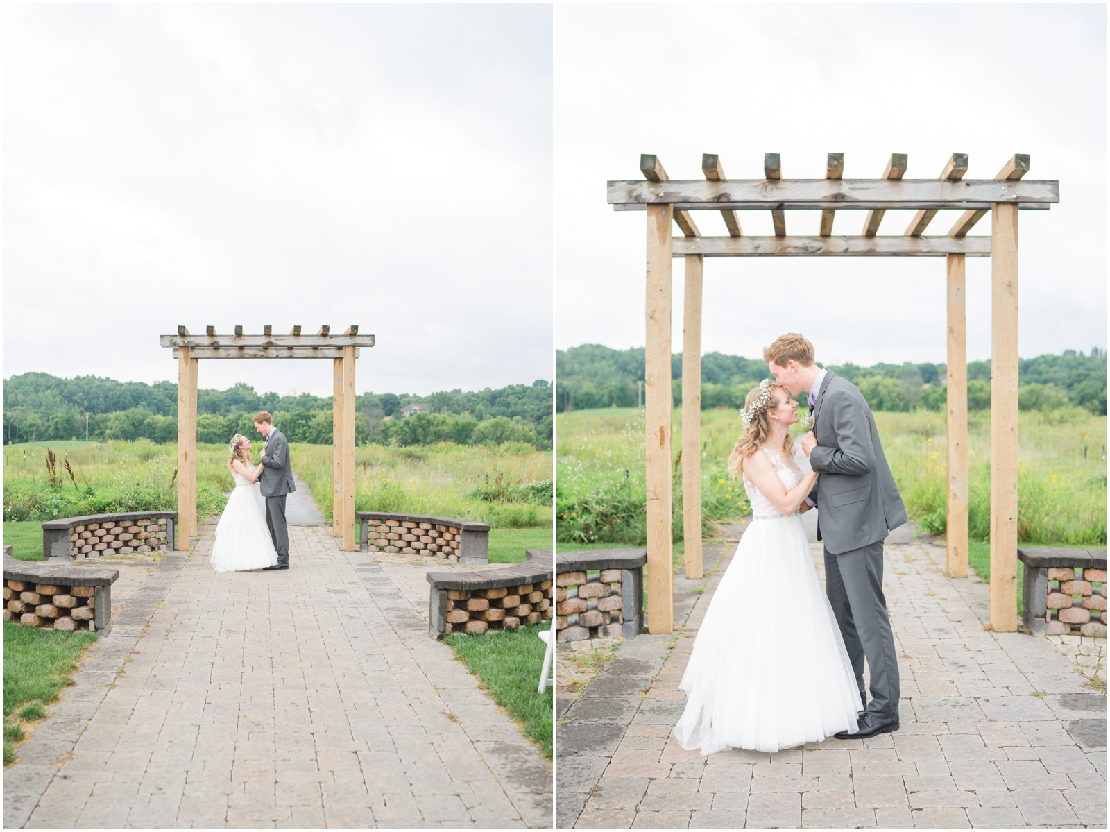 bride and groom at their Minnesota wedding