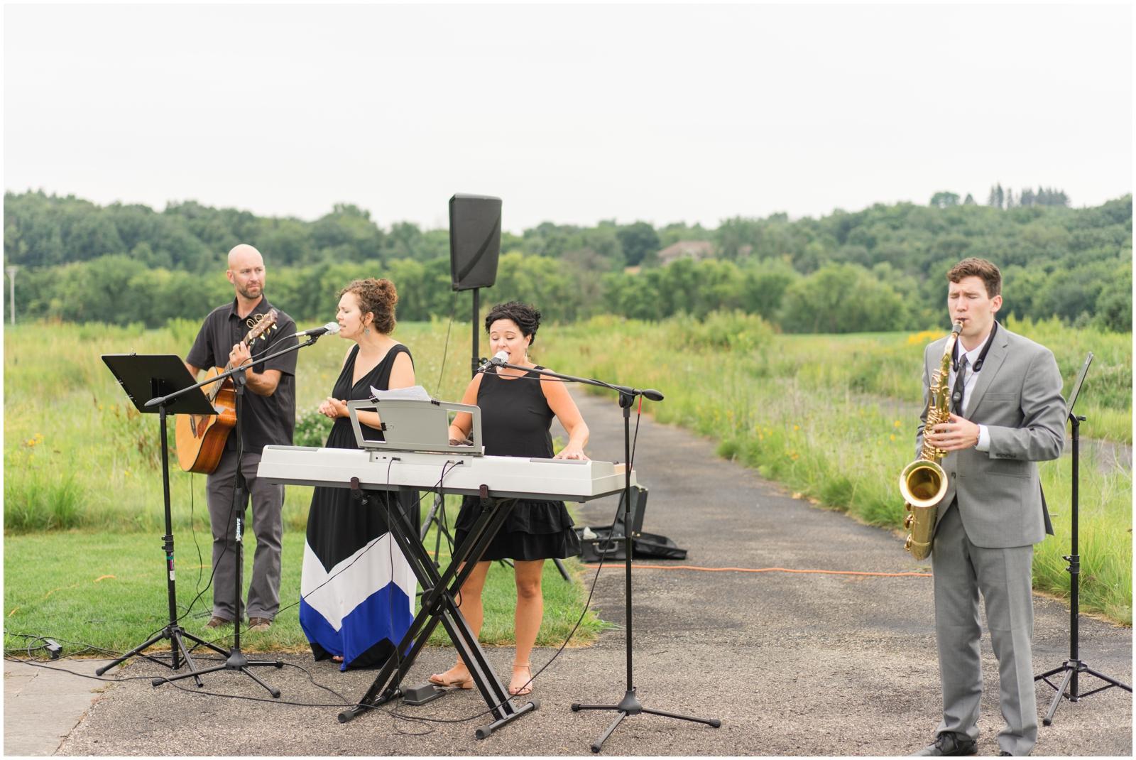 instrumentalists during wedding ceremony