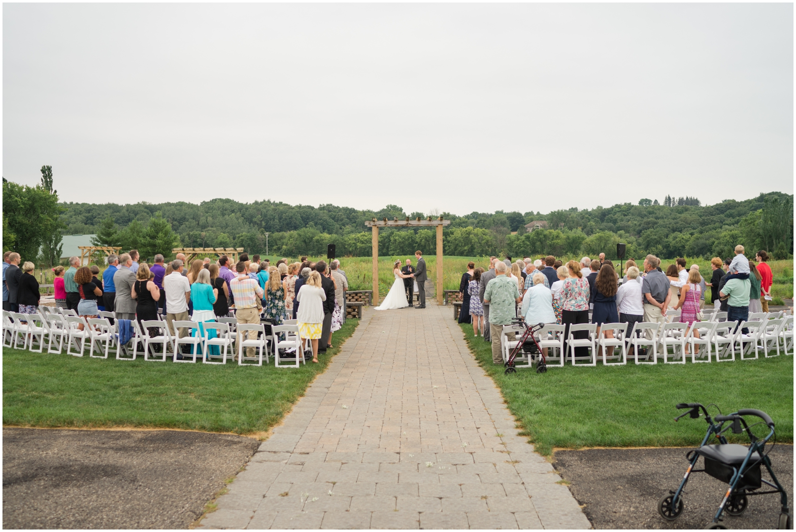 wedding ceremony at The Outpost Center