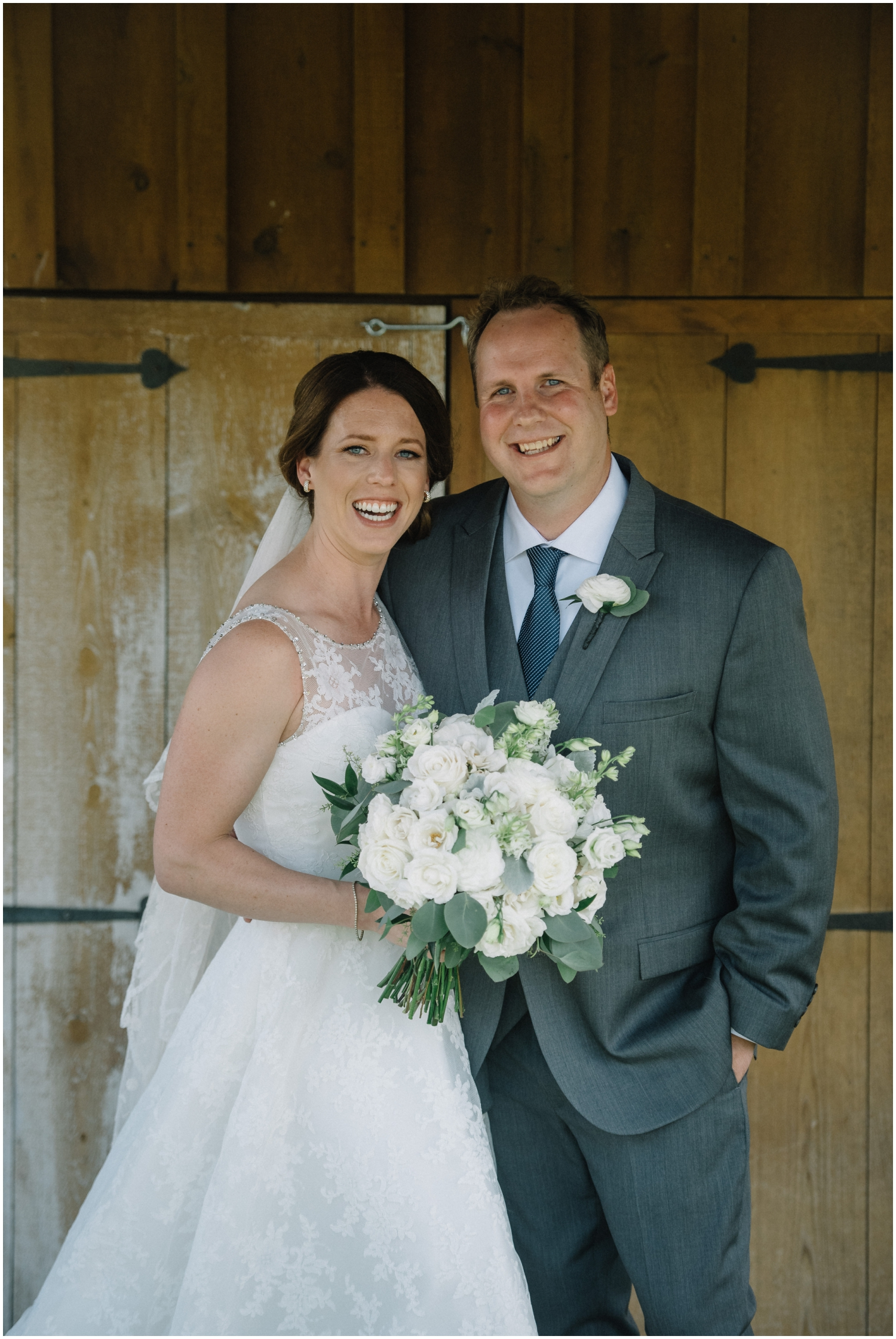 Bride and groom before their Chaska MN wedding
