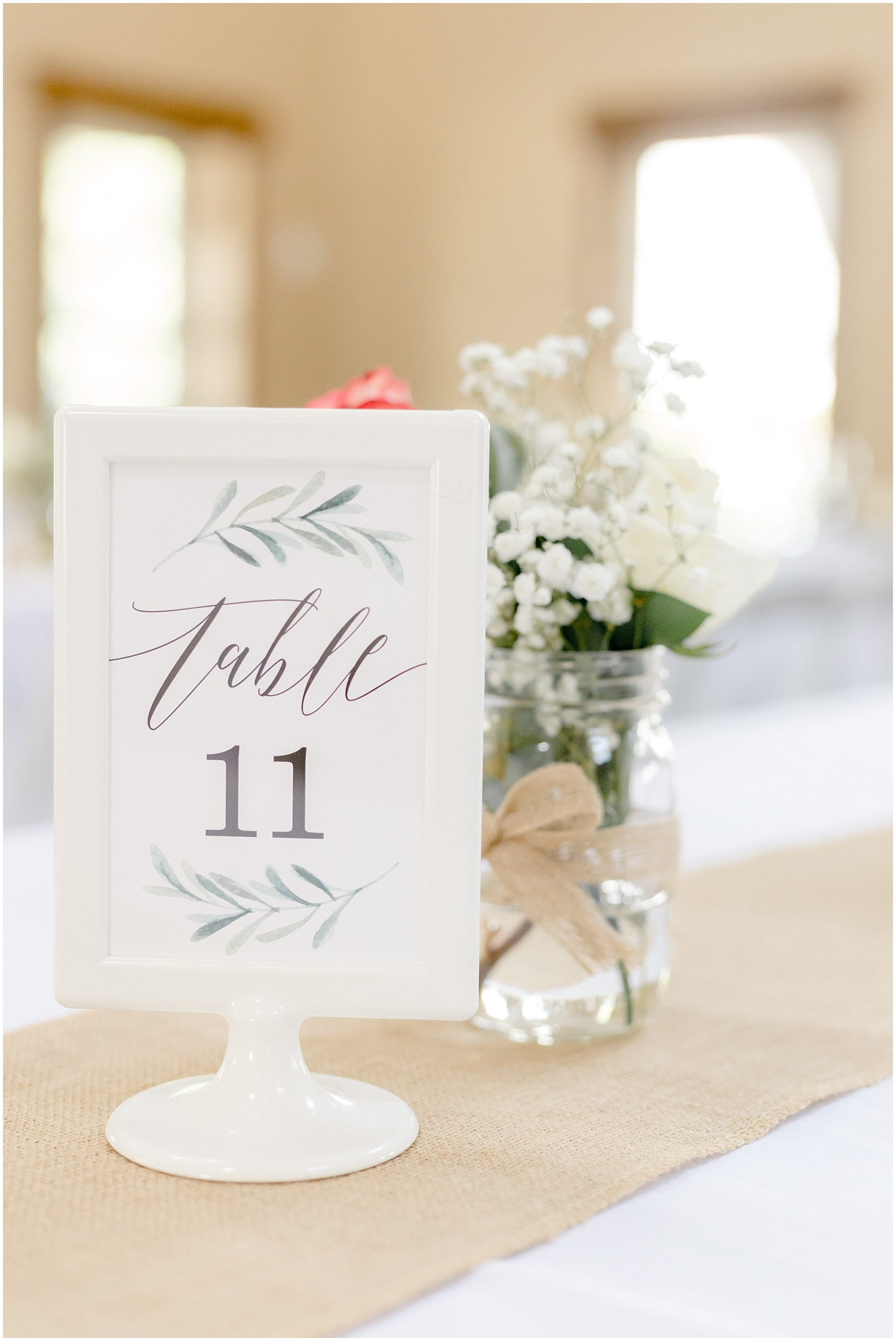 Chaska Wedding Venue MN. Table Sign and centerpiece inspiration
