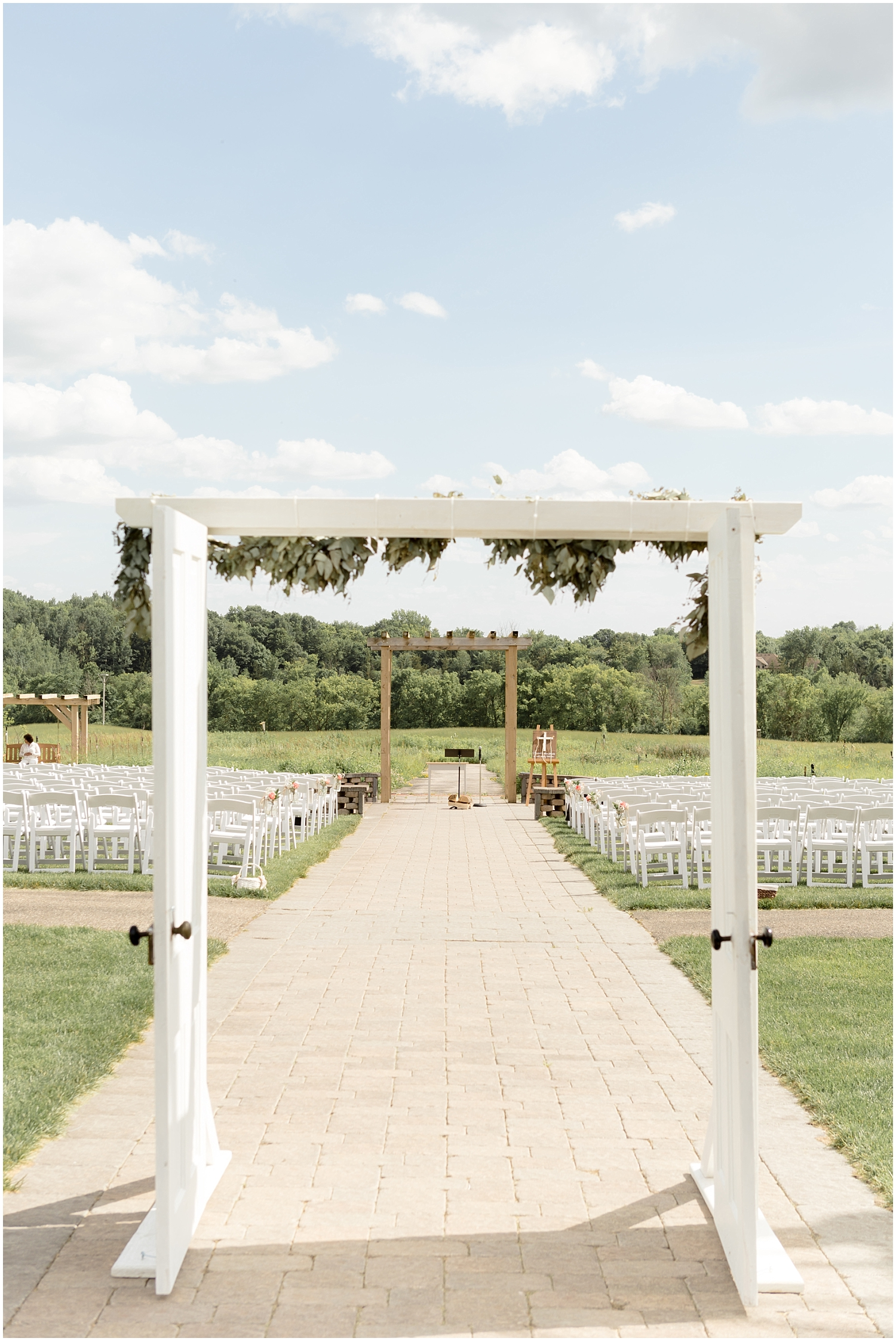 Chaska Wedding Venue MN.  Wedding Arch for Outdoor Wedding Venue