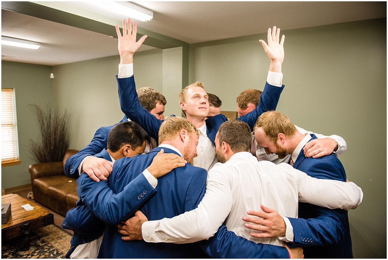 groom and groomsmen before the MN wedding