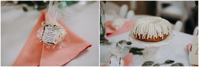 wedding dessert and wedding favors