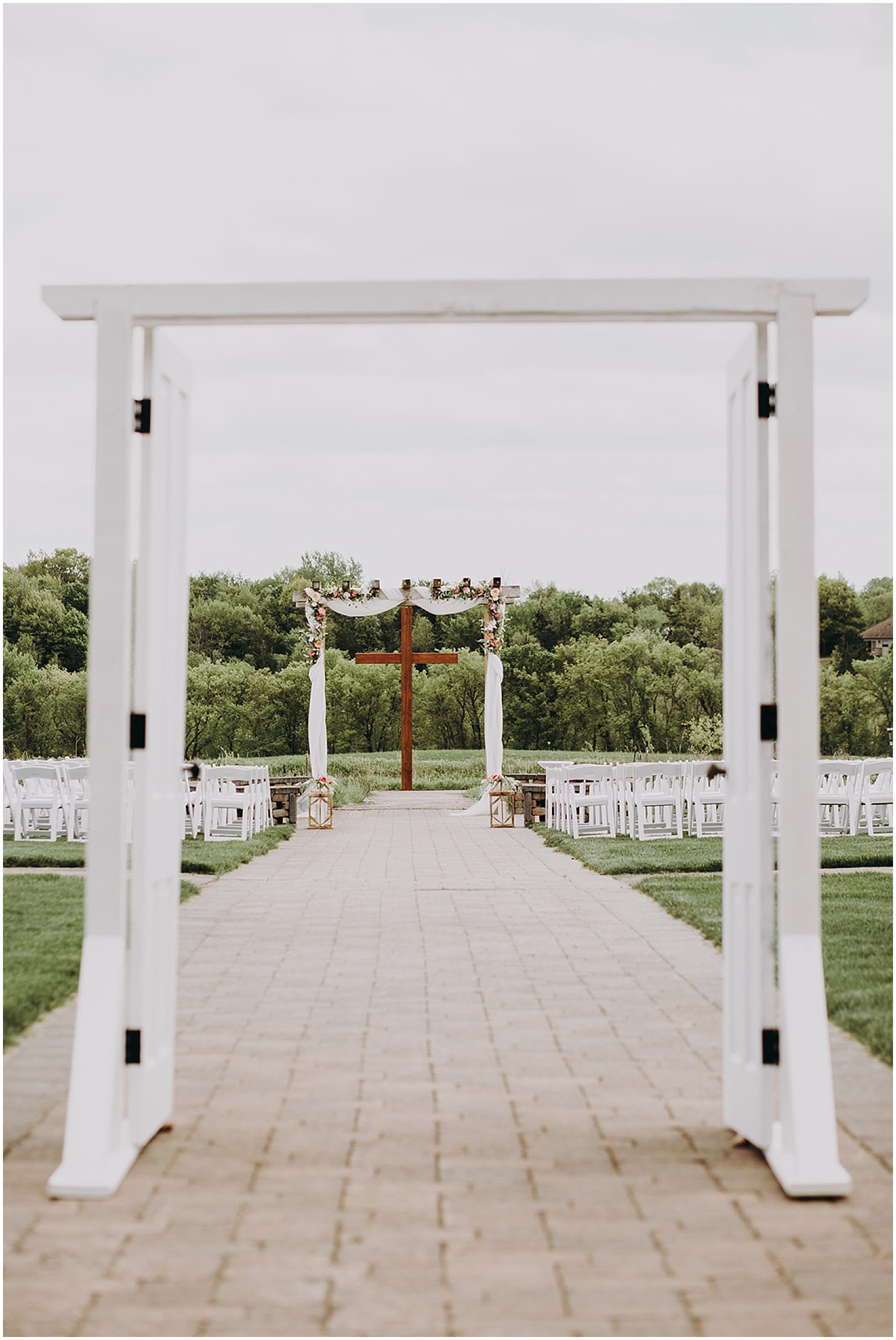 Outdoor wedding ceremony at The Outpost Center