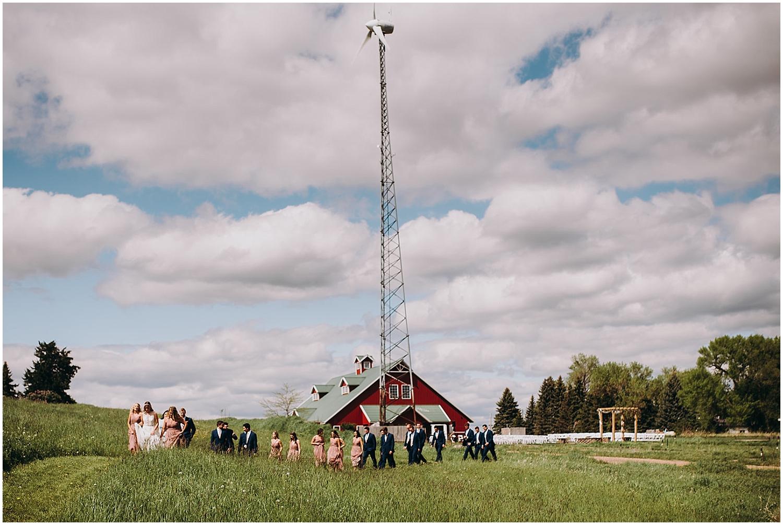 The bridal party at Chaska MN