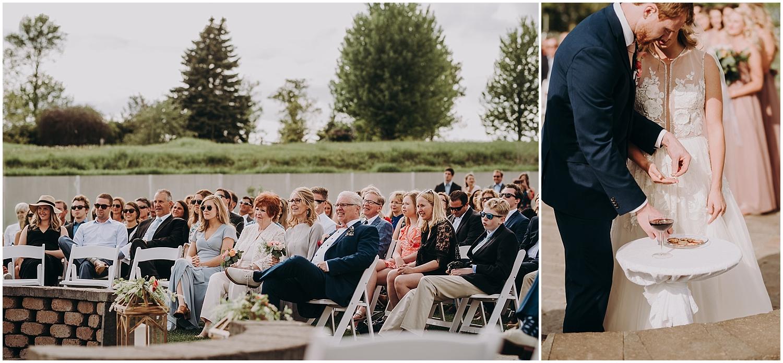 outdoor wedding ceremony in Chaska MN