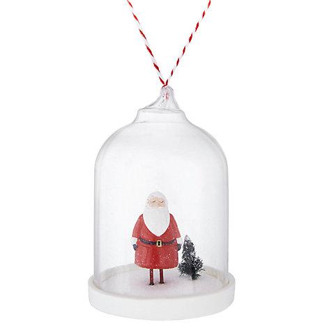 Santa in a dome