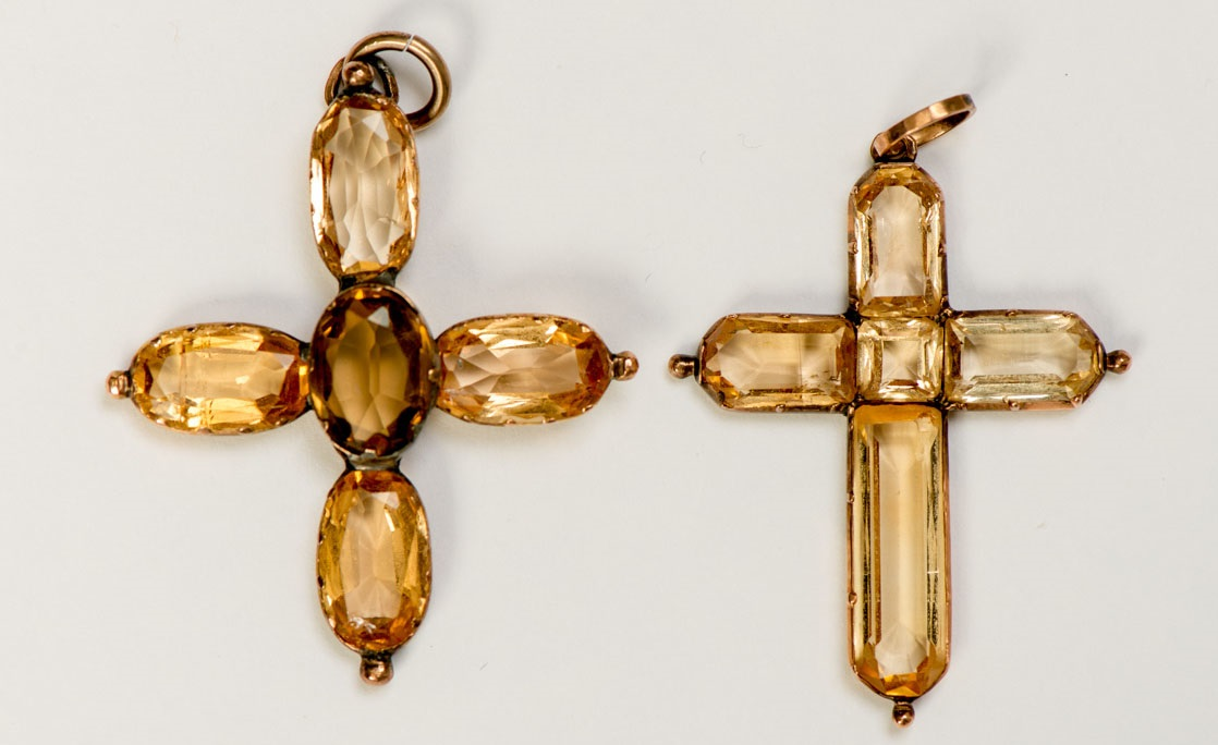 jane austen topaz necklace
