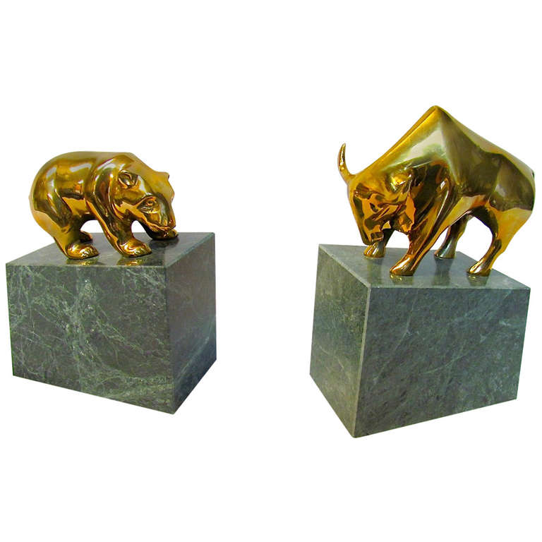 Bull and Bear Book Ends