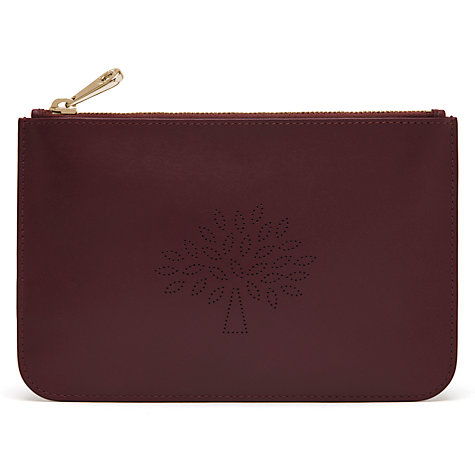 Mulberry Oxblood Pouch