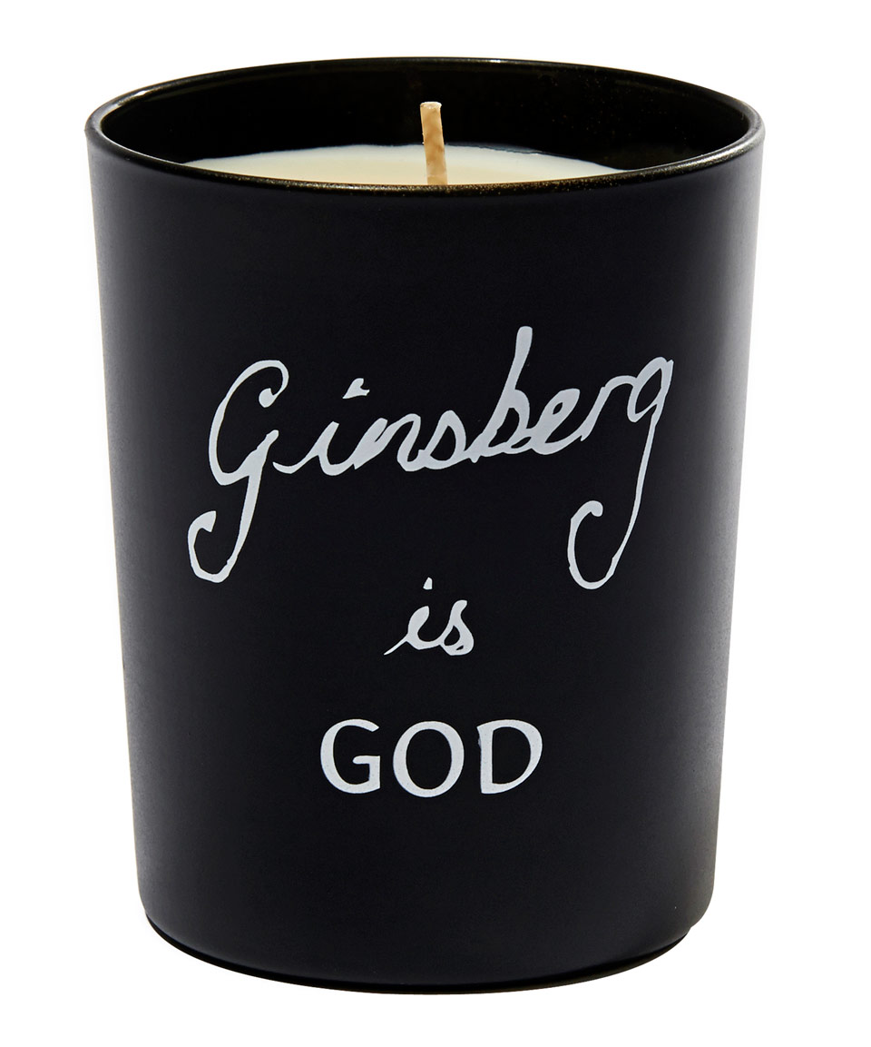 Bella Freud 'Ginsberg is God' candle | Laughing Heart Gift Blog