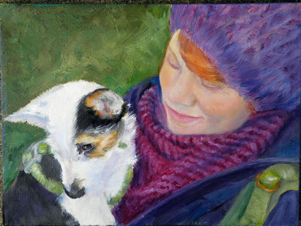 Irish Girl and Her Pup