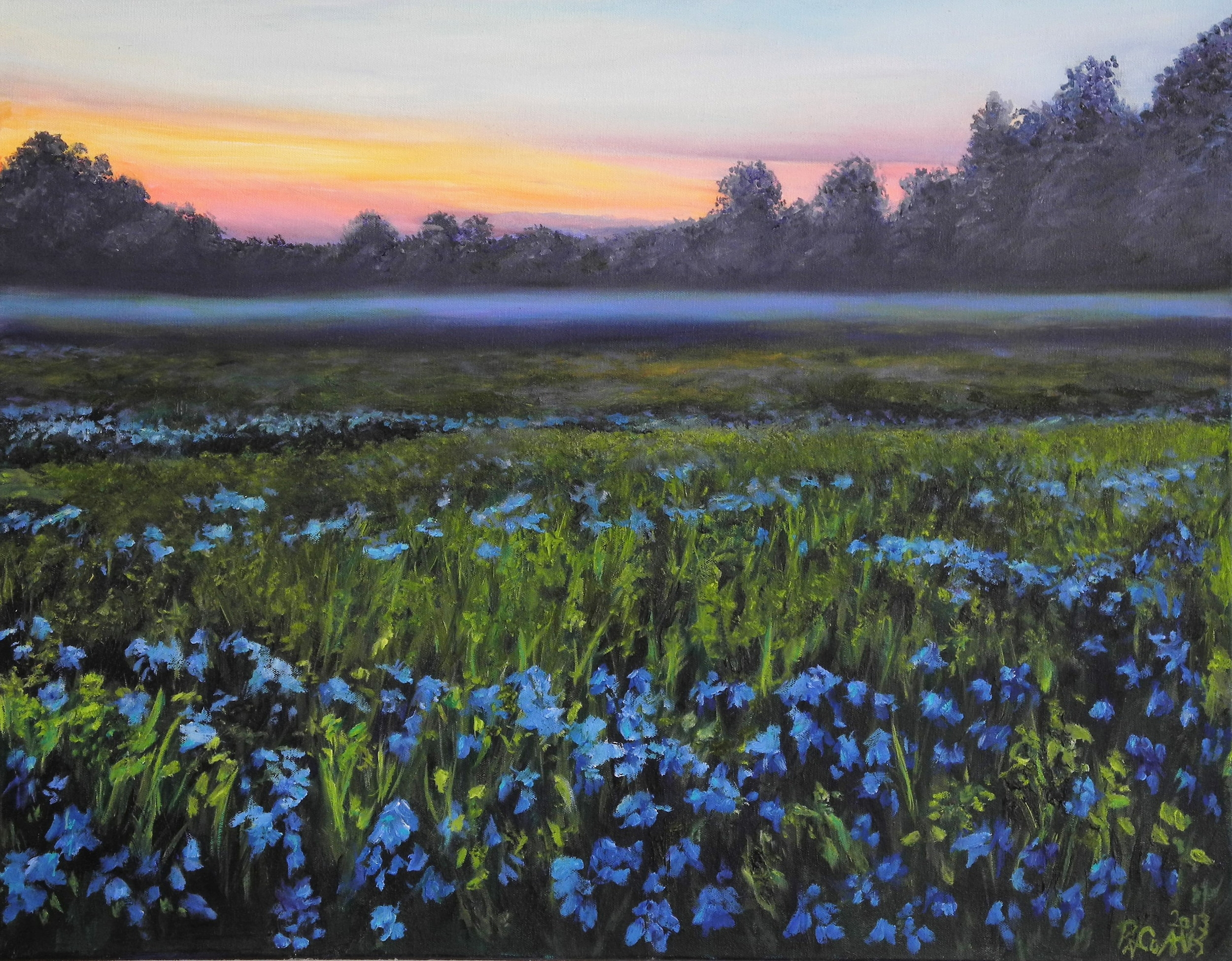 Field of Blue Bells (SOLD)