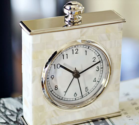 Traditional:  Mother of Pearl Clock