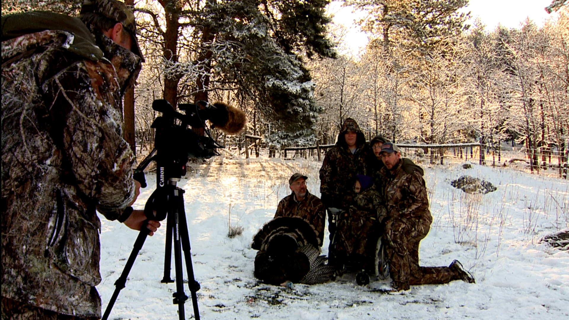 "Arianna and her family being filmed for an episode of ""Wired Outdoors"", Custer, SD."