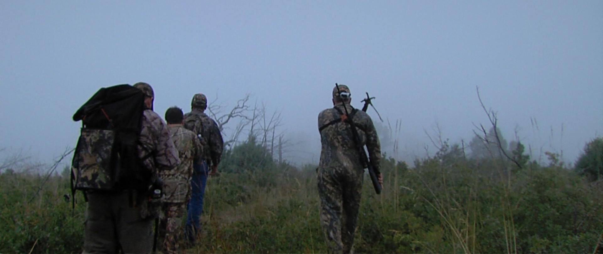 Stalking elk on a misty morning in Mescalero, NM