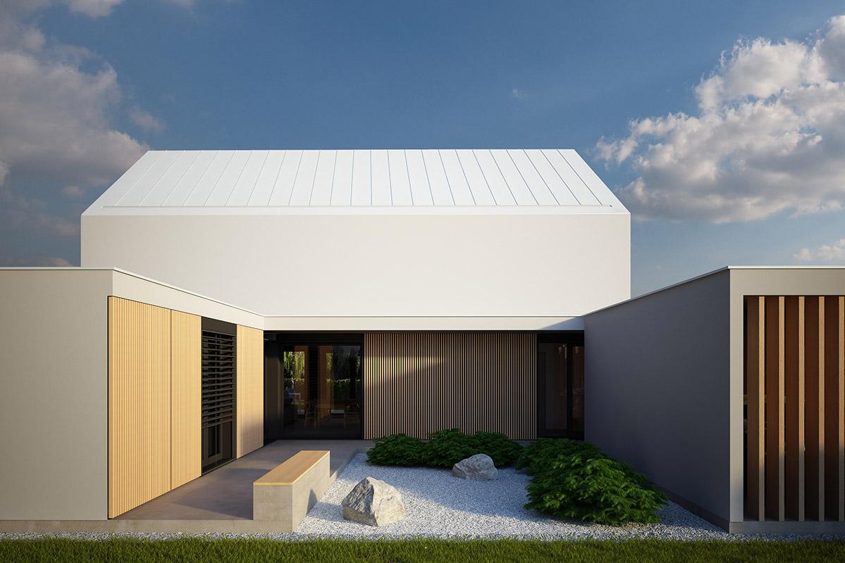 Vizualizacija aktivne hiše Lumar - arhitekturna zasnova
