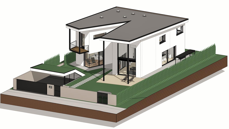 BIM model enodružinske hiše v Jaršah